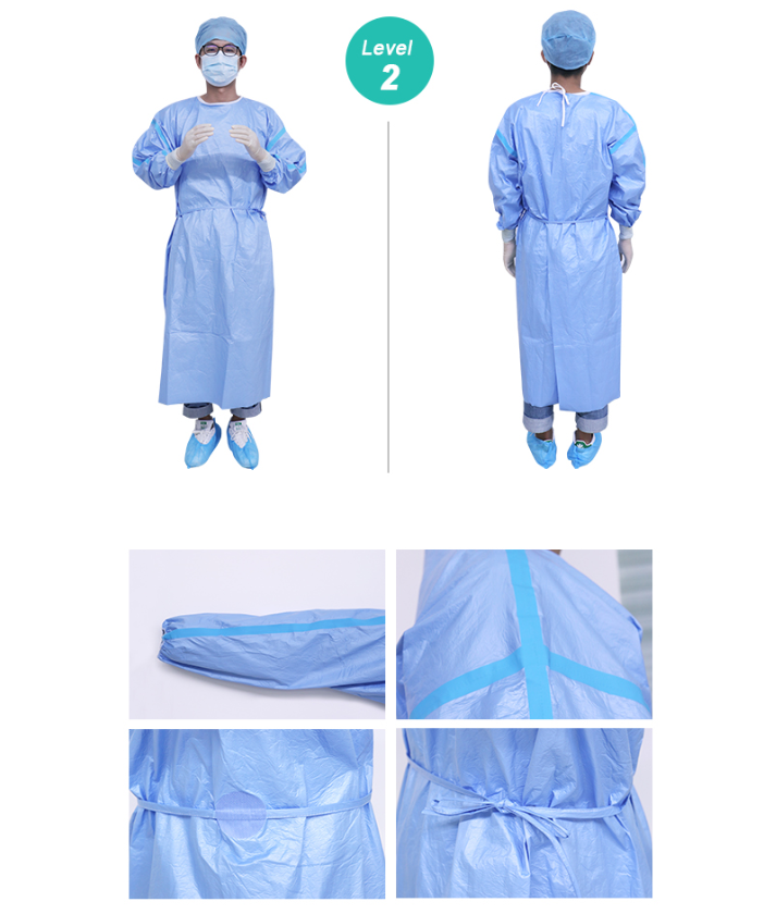 Purcotton Isolation Gown Level