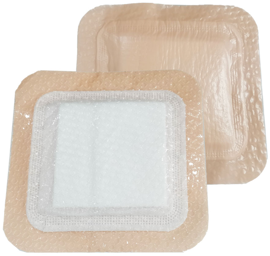 Silicone Super Absorbent Wound Dressing With Border